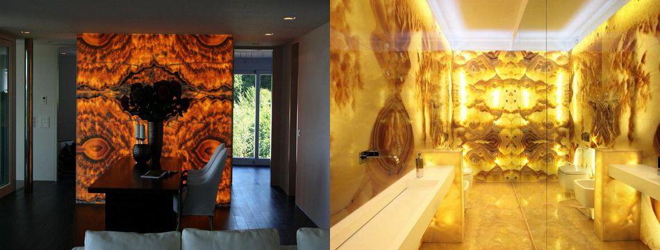 Translucent Resin Wall Stones Backlit Onyx Panels | favorite décor ...