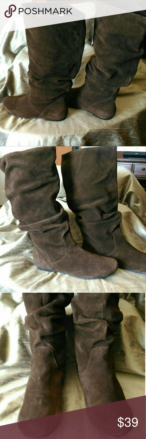 luego Excremento Amado  Steve Madden TIANNA SLOUCH BOOT IN BROWN SUEDE EUC | Slouched boots, Brown  suede, Boots