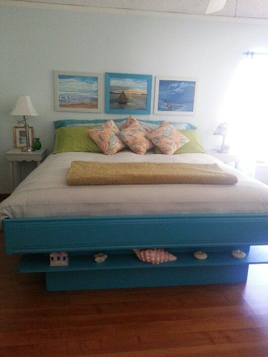 Old Waterbed Frame Painted Mattress Replacing Waterbed Water Bed Bedroom Headboard Furniture