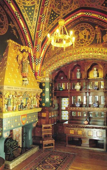 Cardiff Castle Interior Designed By William Burges From Arts Crafts Home