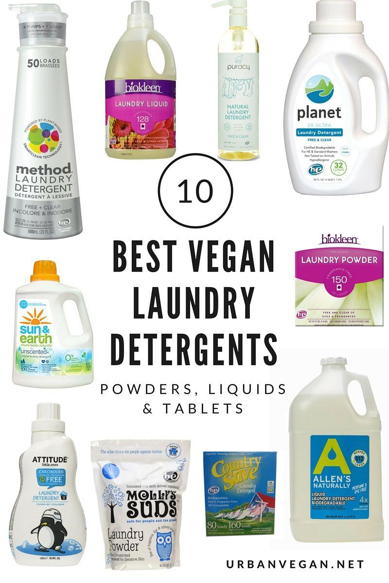 10 Best Natural Vegan Laundry Detergents Powders Liquids