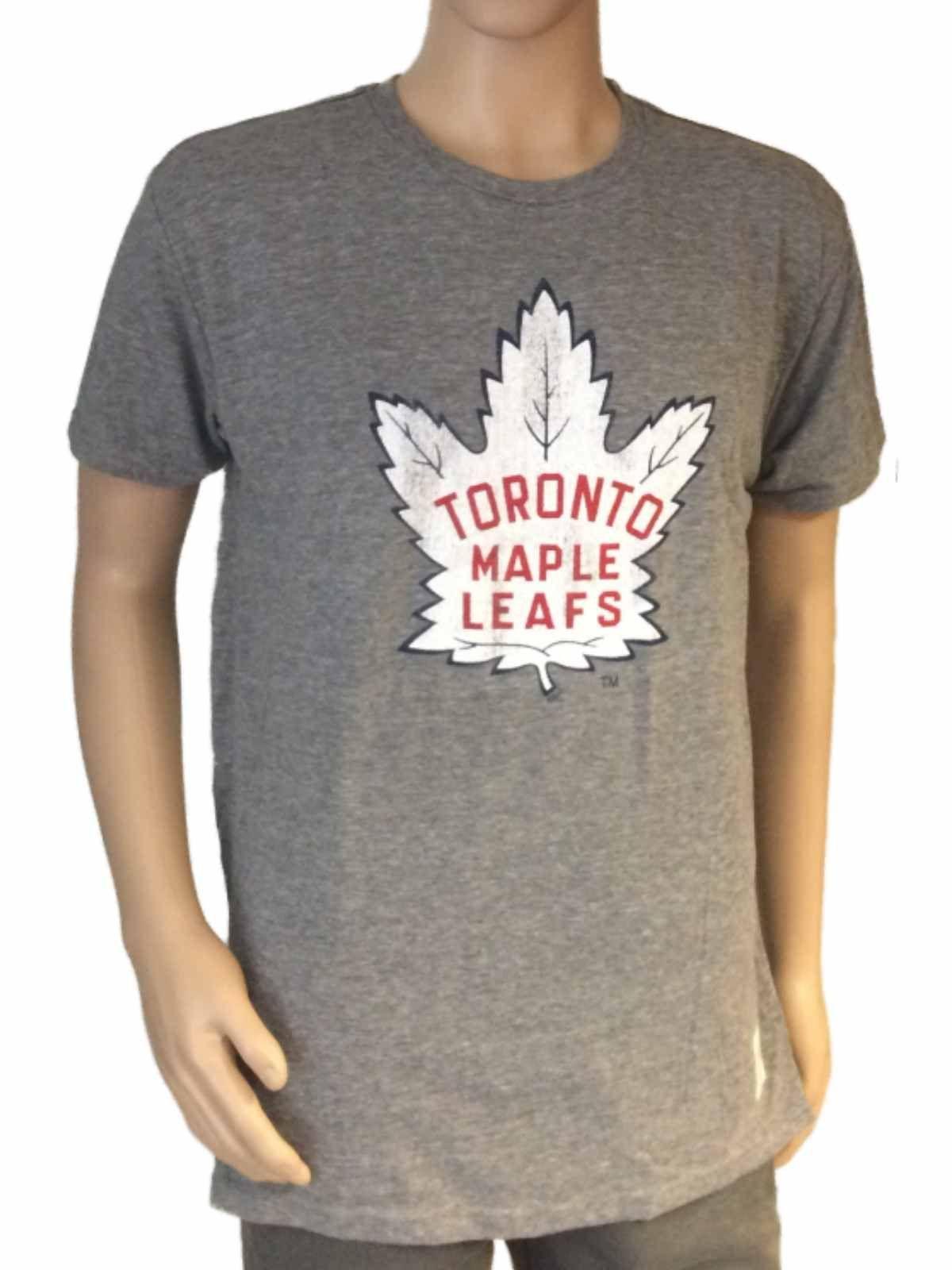 Toronto Maple Leafs Retro Brand Gray Tri-Blend Distressed Logo SS T-Shirt f5d90b10a