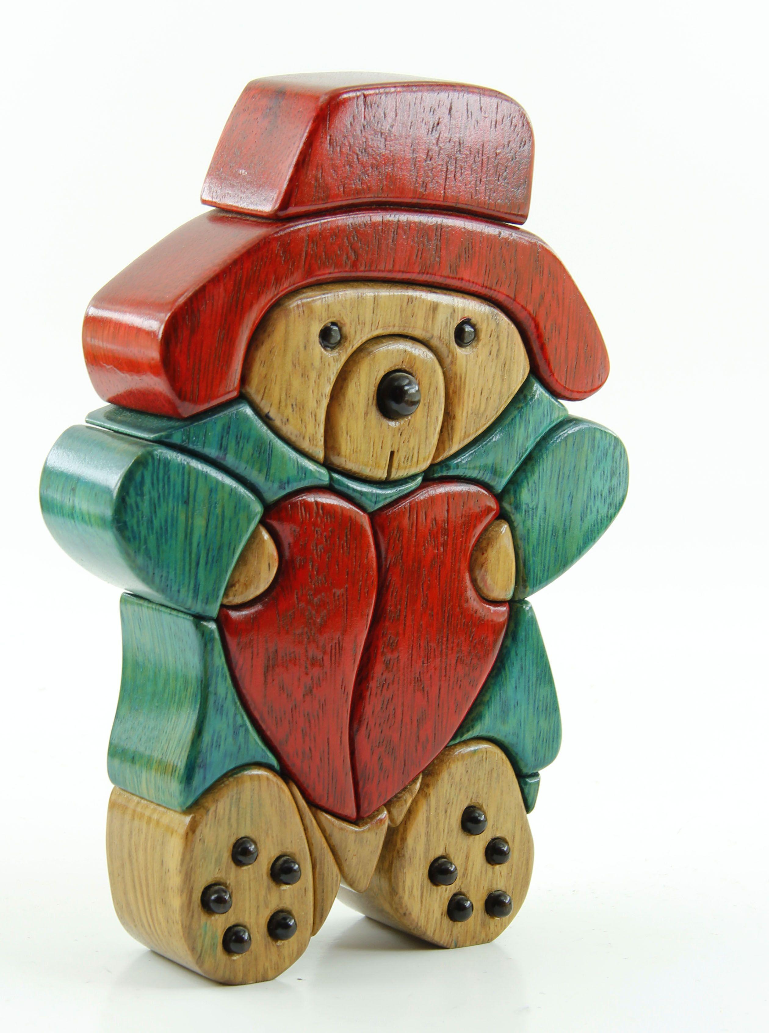 Osito con corazon intarsia pinterest woodworking