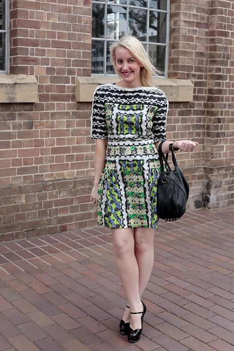 Aimee Leabon, acting wellness and beauty editor. Peter Pilotto dress,  Chanel sunglasses,