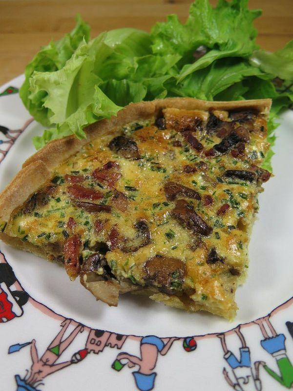 Quiche aux lardons et aux champignons | Ramadan | Quiche ...