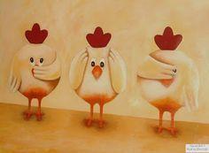 KunstART: ● Lustige Hühner