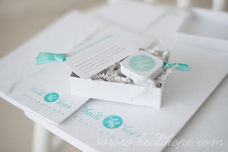 "Clean, bright and wonderfully ""brand coordinated"" packaging from Heidi Hope Photography - gorge :)"