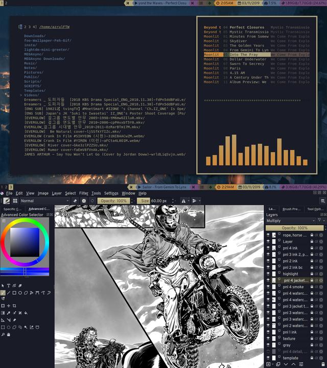 I3-Gaps] Minimal Comic Artist Setup : unixporn   OS Themes