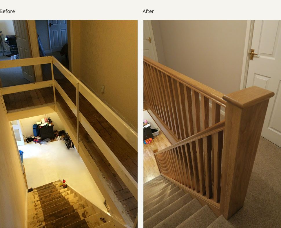 View A Selection Of Recently Completed Before And After Glass And Wood  Staircase Renovations.