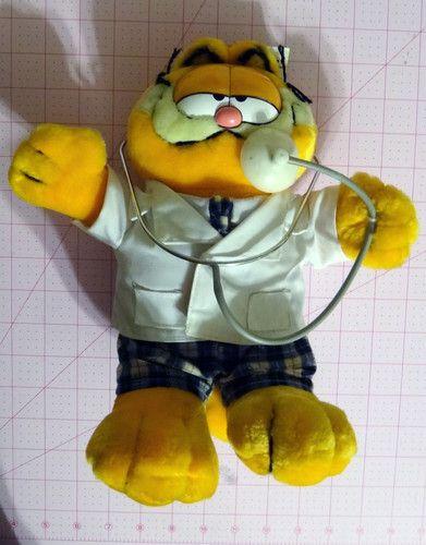 Vintage Garfield Doctor plush