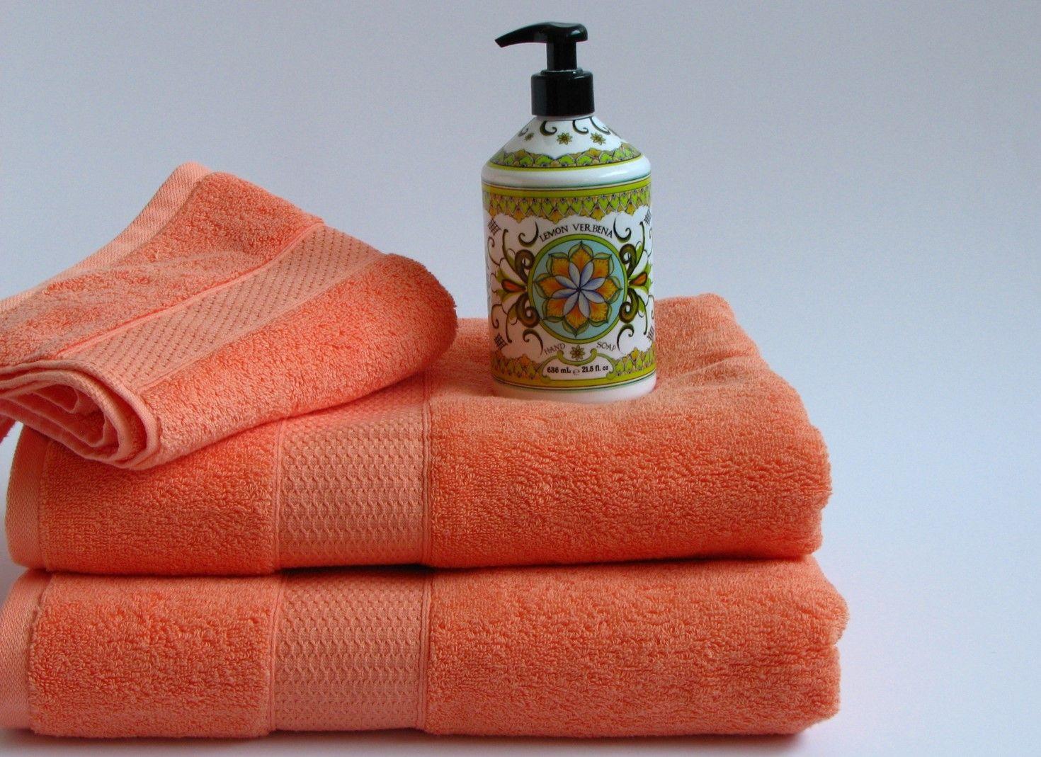 Vibrant Mandarin Bath Towels By Cynthia Rowley And Lemon Verbena