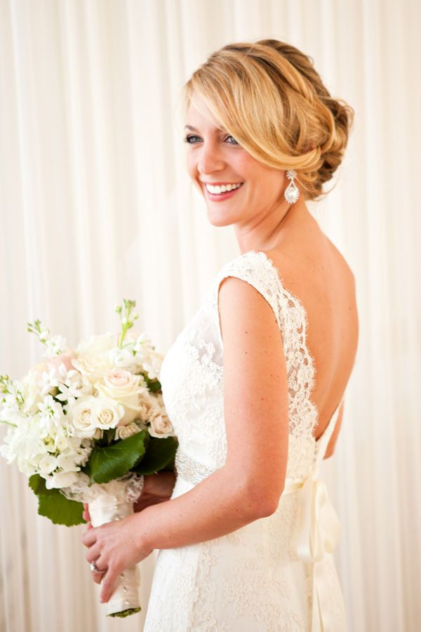 """A pretty smile is always the perfect accessory... our bride wears """"Lauren""""  Photo by Melissa Robotti"""