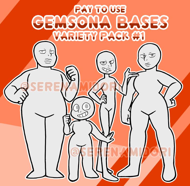 P2u Gemsona Bases Variety Pack 1 By Serenamidori On Deviantart Steven Universe Quotes Steven Universe Drawing Steven Universe Characters