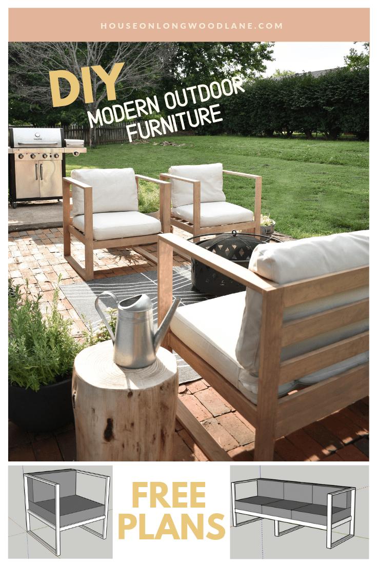 Diy Modern Outdoor Sofa House On Longwood Lane Diy Patio Diy