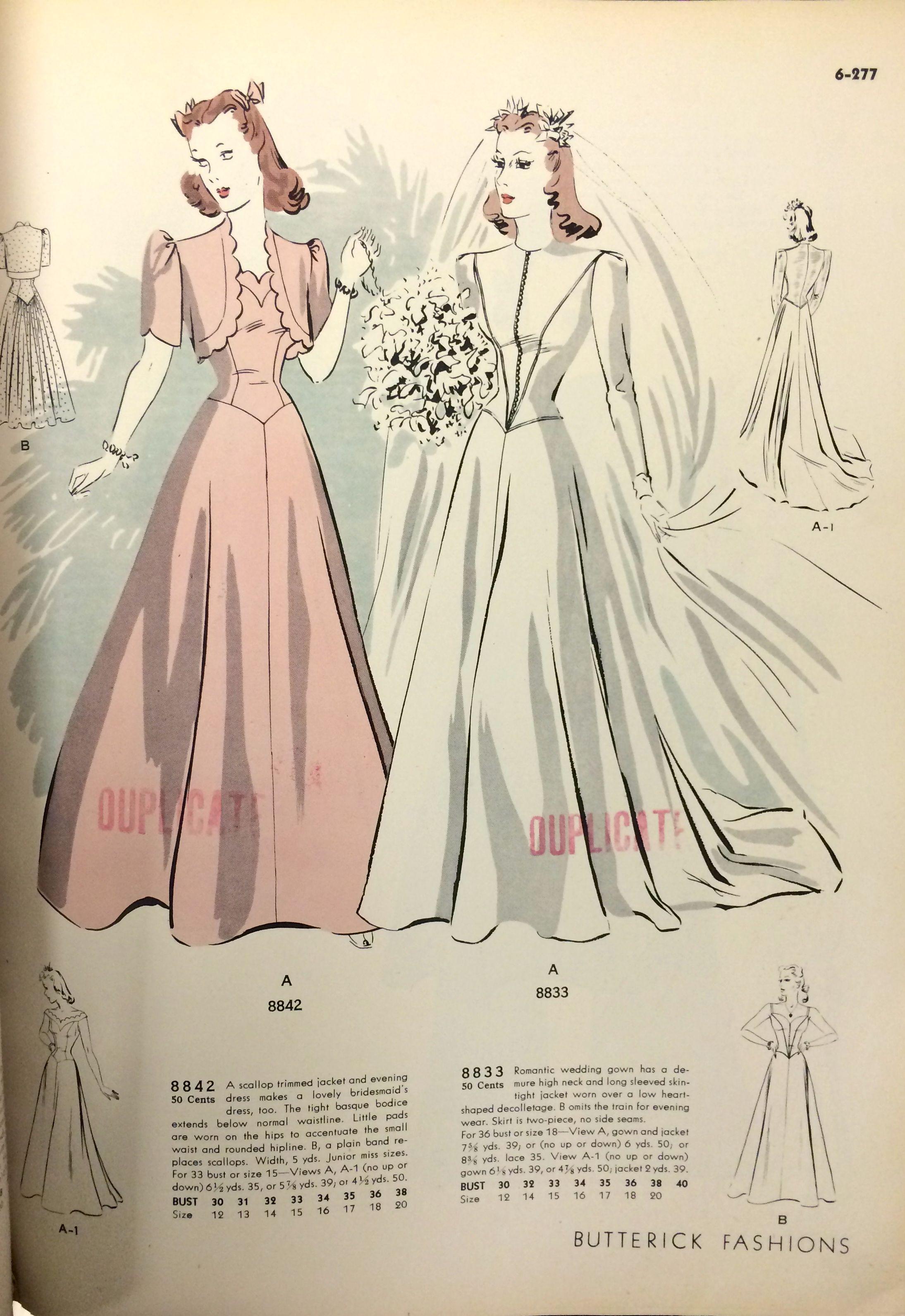 1964 Vintage VOGUE Sewing Pattern B36 WEDDING DRESS GOWN BY JOHN CAVANAGH 1777