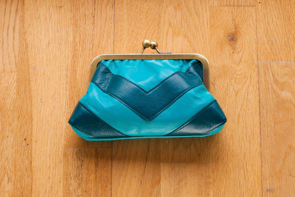 jade teal leather purse via etsy fashion is smashion pinterest leather purses. Black Bedroom Furniture Sets. Home Design Ideas