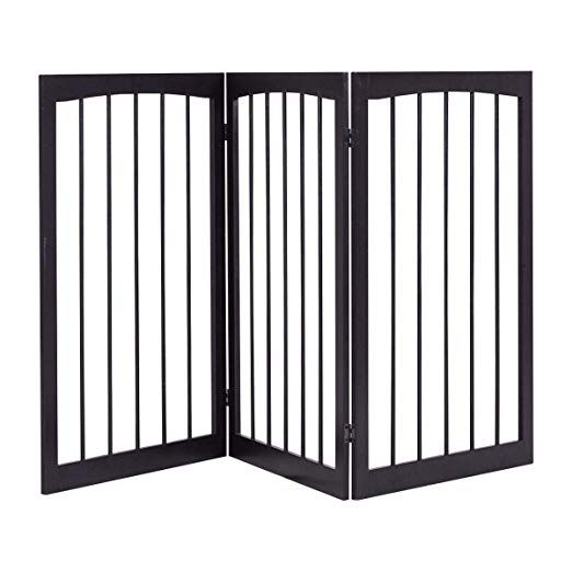 Best Folding Solid Wooden 3 Panel Free Standing Pet Fence 400 x 300