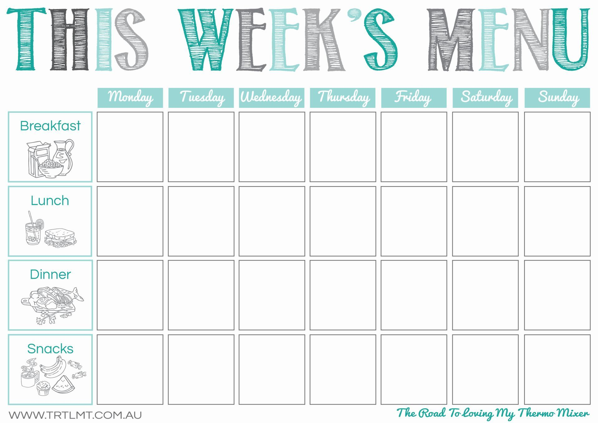 Printables Weekly meal planner template, Meal planning