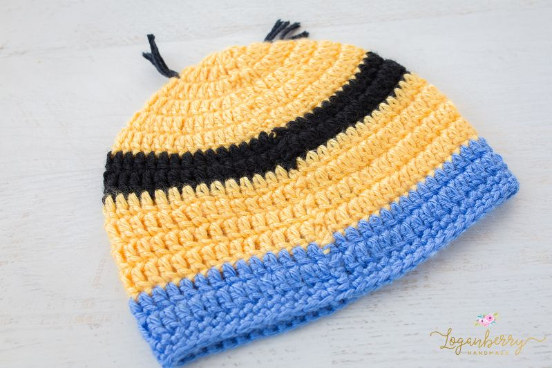 Crochet Minions Beanie + Free Pattern + Tutorial, Despicable Me ...