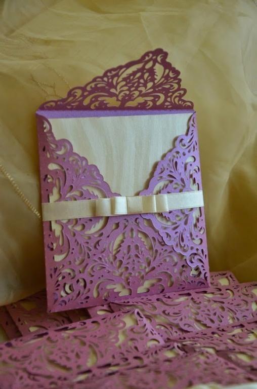 Zaproszenia ślubne Koronkowe Ażurowe Róż 5062573775 Allegro