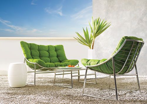 Distinctly Home Tropea Three Piece Lounge Set The Bay Backyard Seating Patio Inspiration Outdoor Chairs