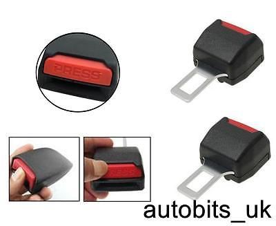 2 Universal Car Safety Seat Belt Tongue Buckle Lock Extender 21 Mm Wide
