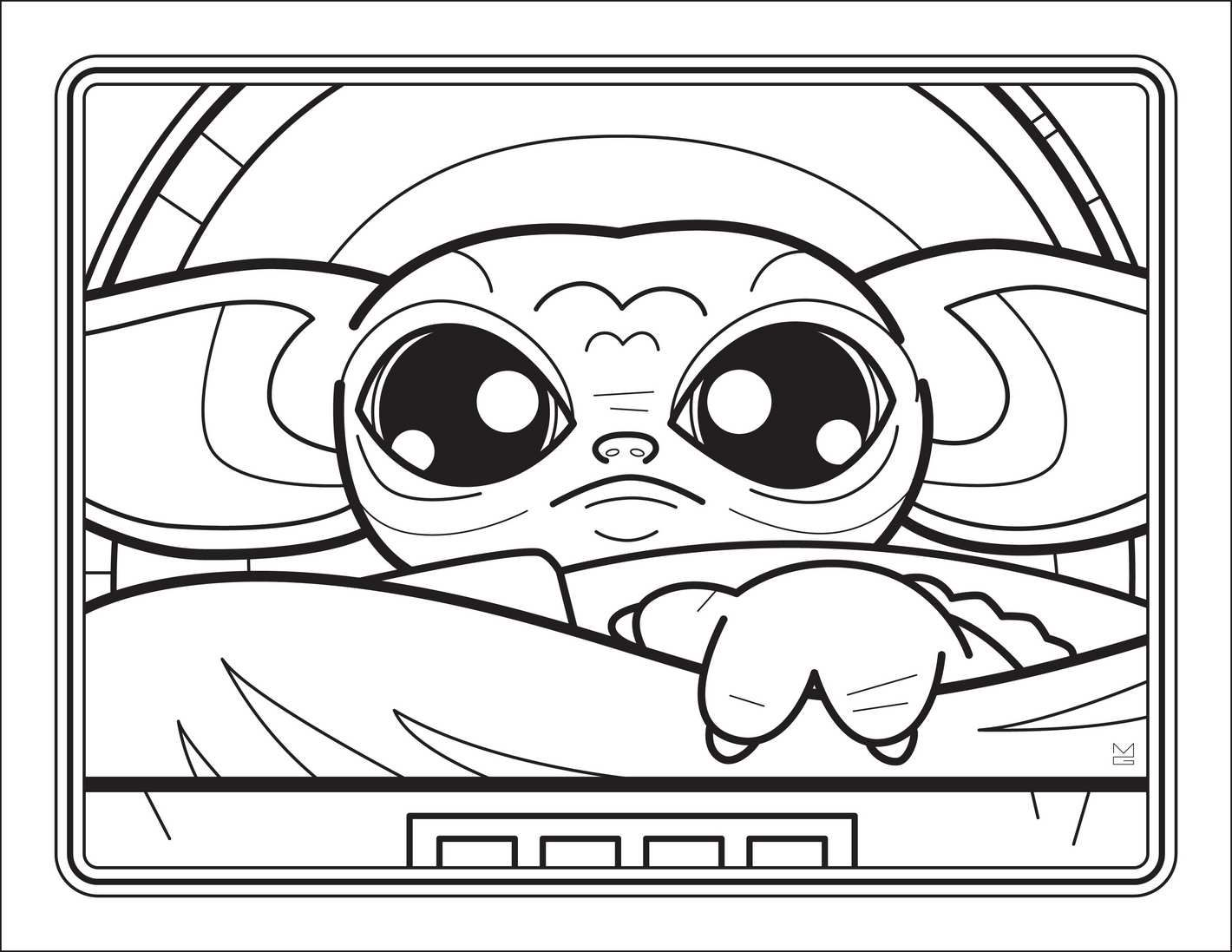 The Unofficial Baby Yoda Coloring Book Coloring books