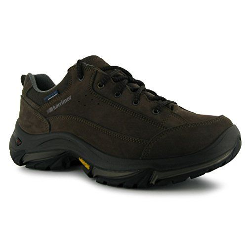 e754129da66 Karrimor Mens Brecon Low Walking Hiking Shoes Trainers Brown 8 42 ...