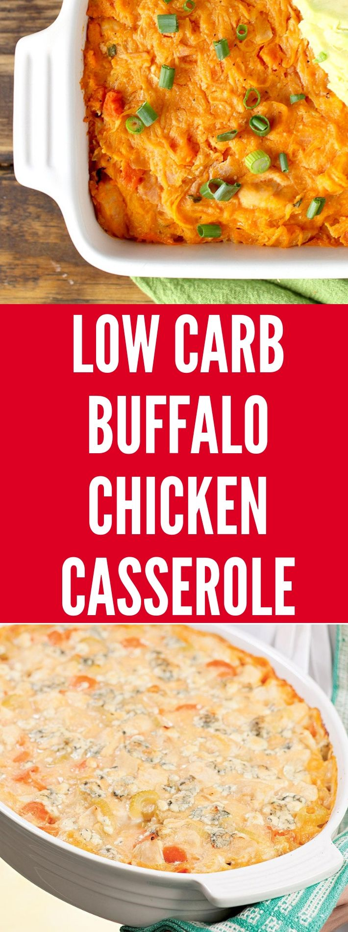 LOW CARB BUFFALO CHICKEN CASSEROLE #buffalochickennachos