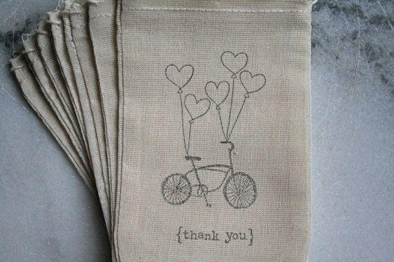 Muslin thank you bags.