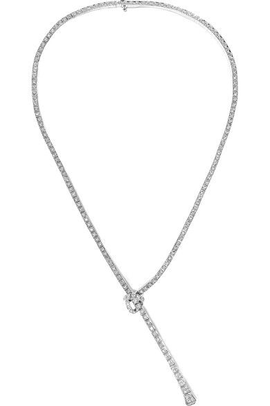 Gucci 18-karat White Gold Diamond Necklace 4oVyF0nA8