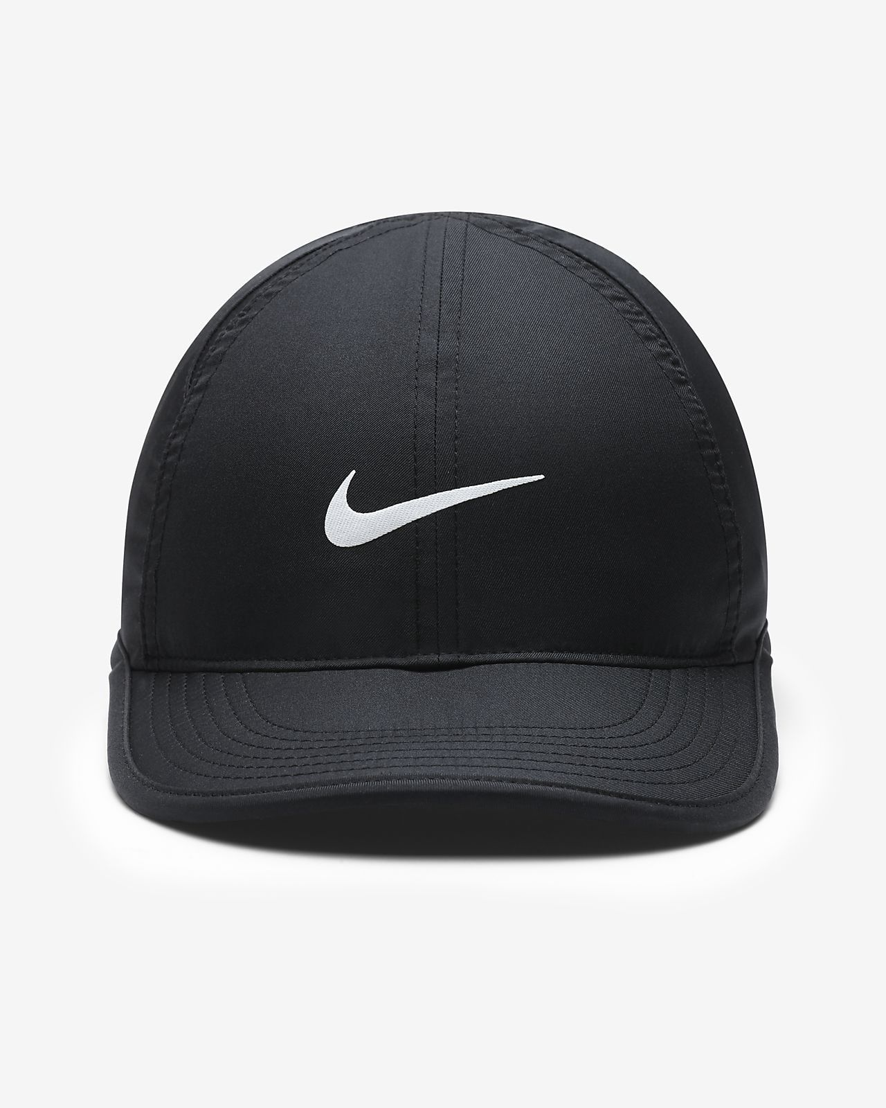 5780f8275c1 Nike Featherlight Big Kids  Adjustable Hat - Black Black White Os