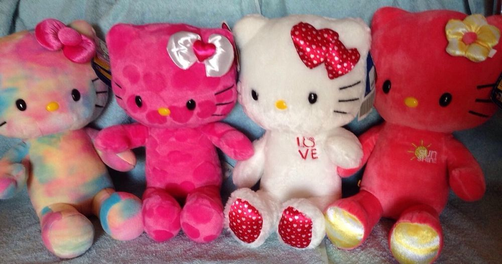 BUILD A BEAR HELLO KITTY Lot Of 4 Different Hello Kitty Plush | Neat ...