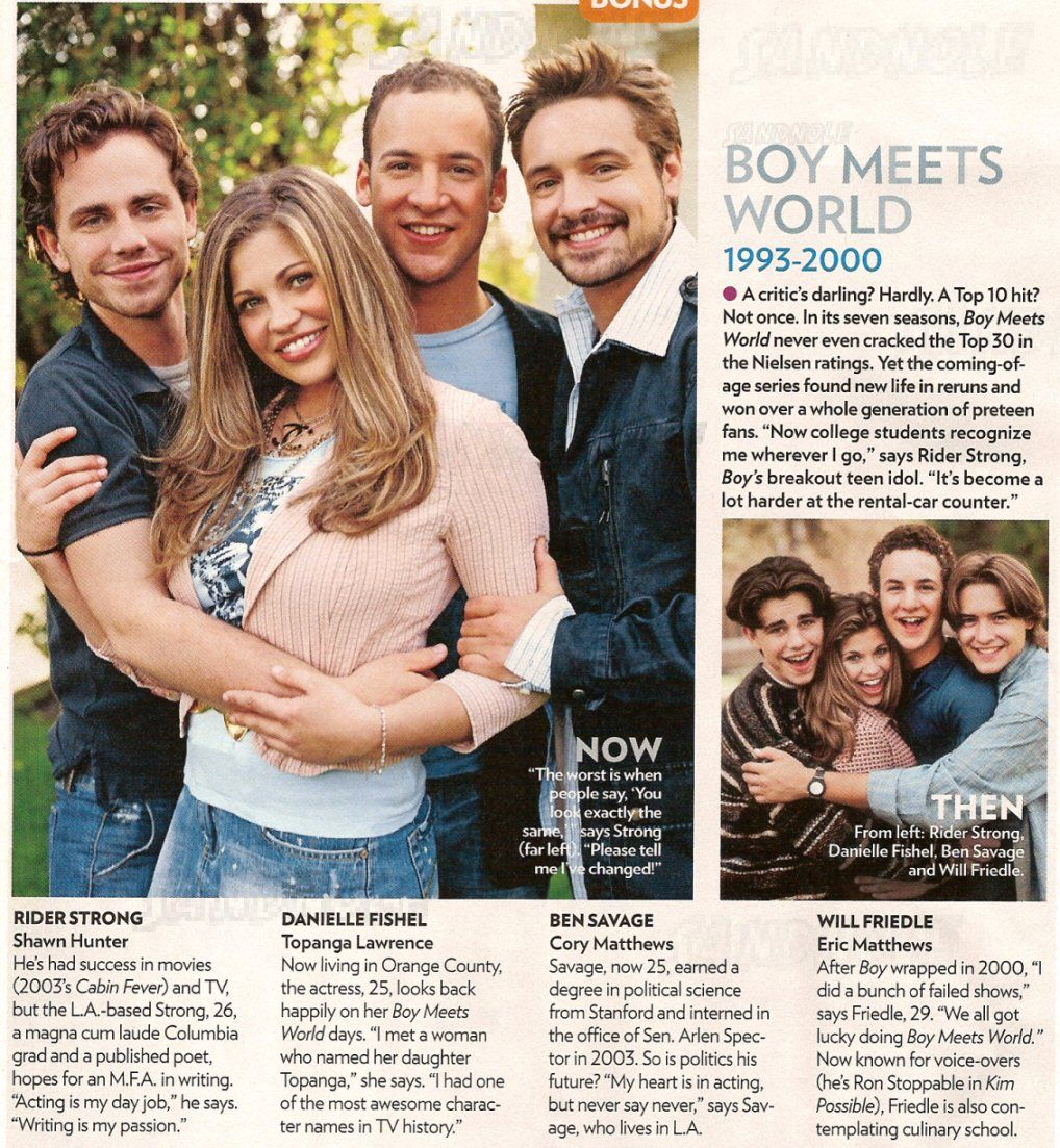 Boy Meets World.. Then & Now!