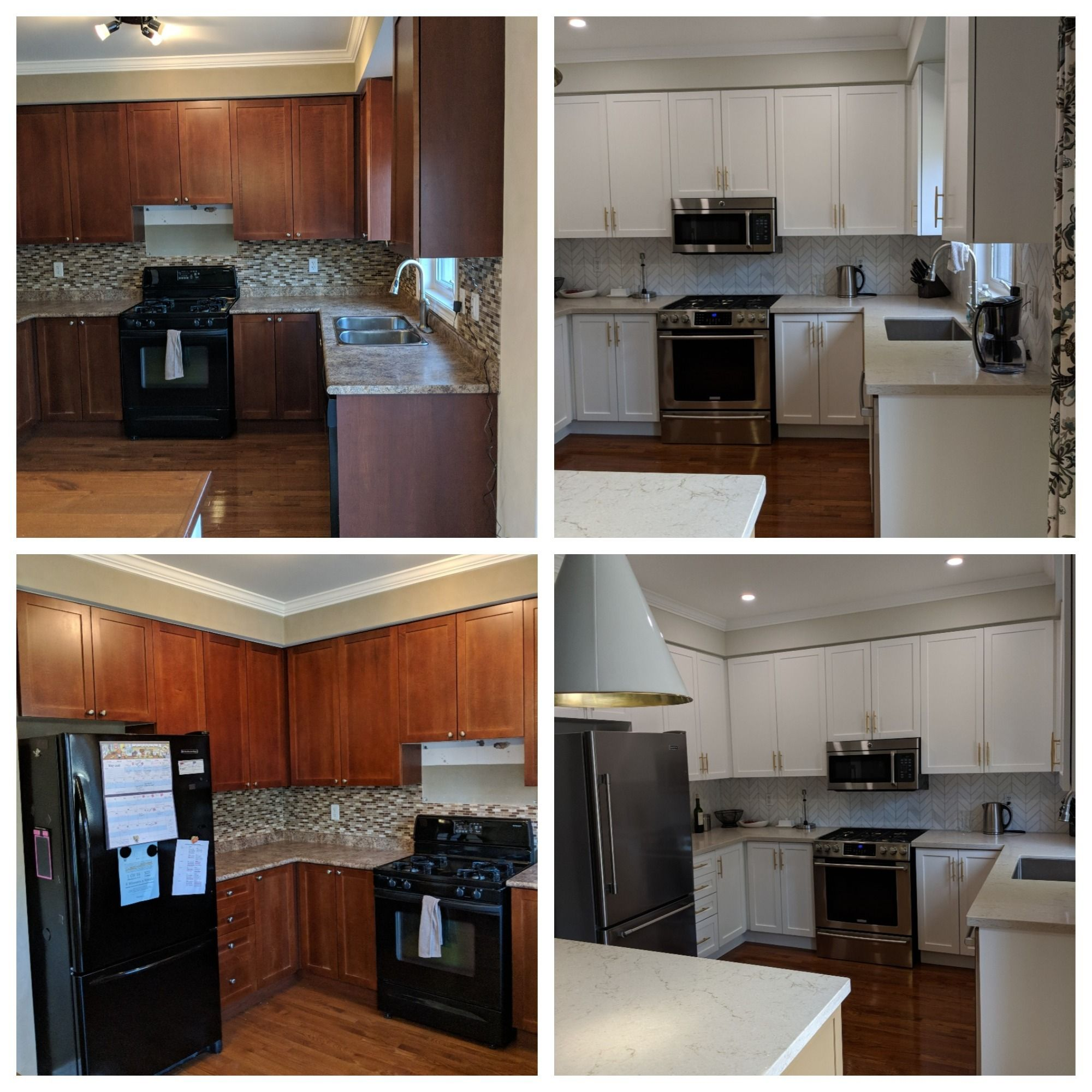 Another Kitchen Cabinet Refinishing Project Teamed Up With An Interior Decorator And Contracti Kitchen Cabinets Painting Kitchen Cabinets Refinishing Cabinets