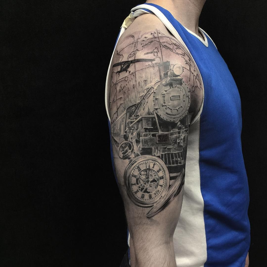 Full Sleeve Tattoo Definition: Finished This Up On Nate! Thanks Man! #tattoo #tattoos