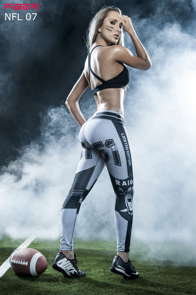 Show your love for the Oakland Raiders in these exclusive leggings made from the highest quality material. Limited Edition and once they are sold out they will not be back again! Material is Polyester/Elastane which is extremely flexible, fade resistant, holds shape, lighter weight, quick drying, wash durability and resists wrinkling. Wide waistband engineered to provide ample support and comfort with a low rise waist Approximate inseam for sizing is 24″ One size fits most in a S-M range