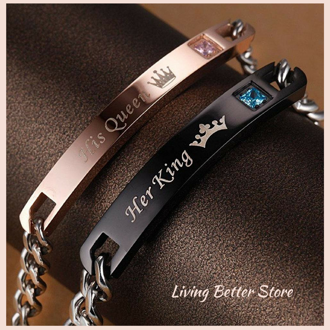 Bracelets for Couples: His Queen, Her King, Jewelry. Unique Matching Bracelets for Couples: Discover the most beautiful and stunning matching bracelets for couples! THIS IS THE PERFECT GIFT YOU'VE BEEN THINKING ABOUT.