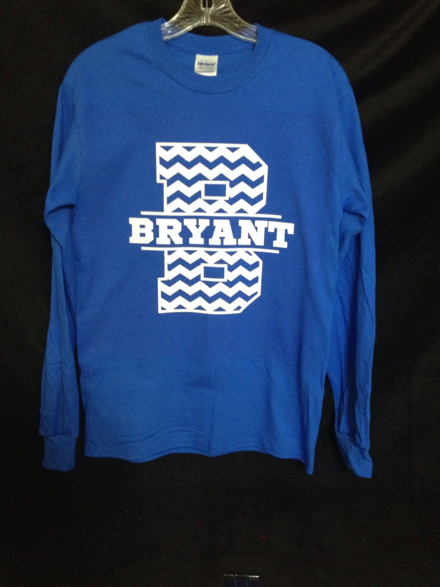 B chevron with Bryant in white glitter! (With images