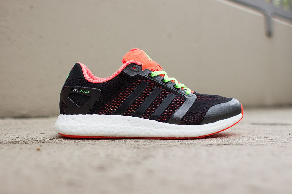"uk availability ede50 e0d10 adidas Climachill Rocket Boost ""Black, Infrared   Neon"""