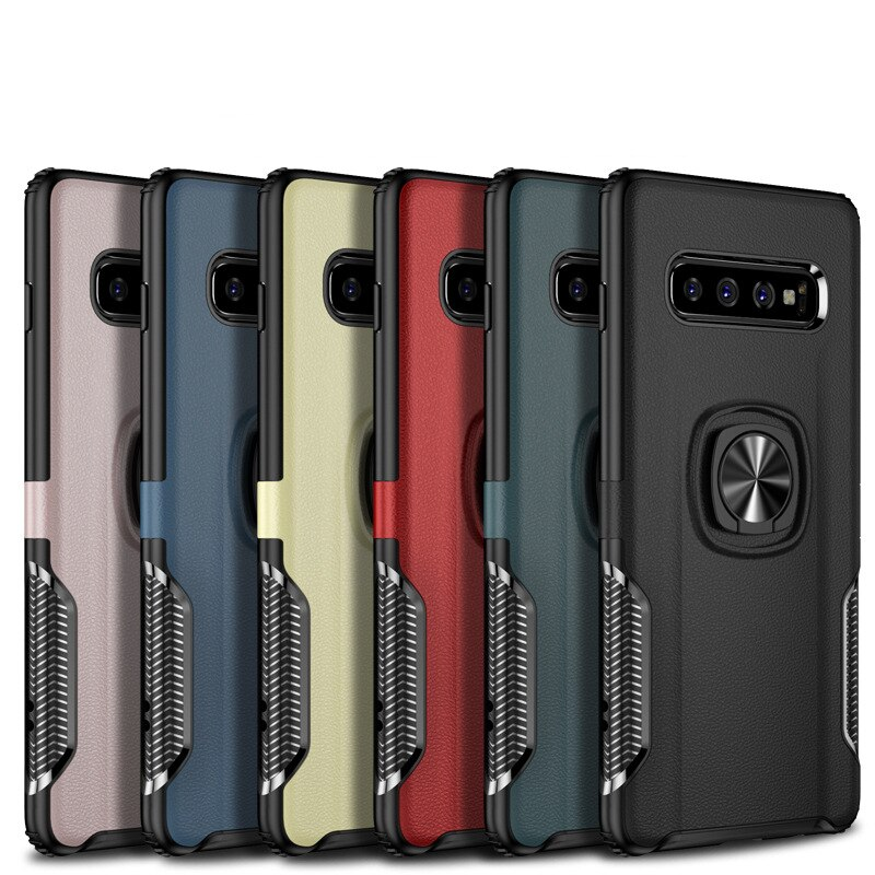 For Samsung S10 Case Metal Ring Car Stand Silicone Case For Samsung Galaxy S10 Plus Phone Back Cover For Galaxy S10e In 2020 Phone Cover Design Samsung Car Holder