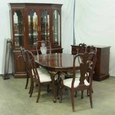 Ethan Allen Queen Anne Dining Room Home Furniture Style Set Magnificent Queen Anne Dining Room Set Design Ideas