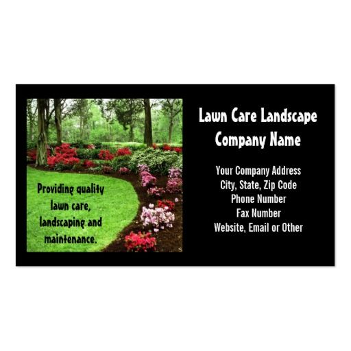 Plush Green Landscape Lawn Care Business Business Card Zazzle