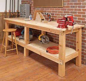 Heavy-Duty Plank Workbench