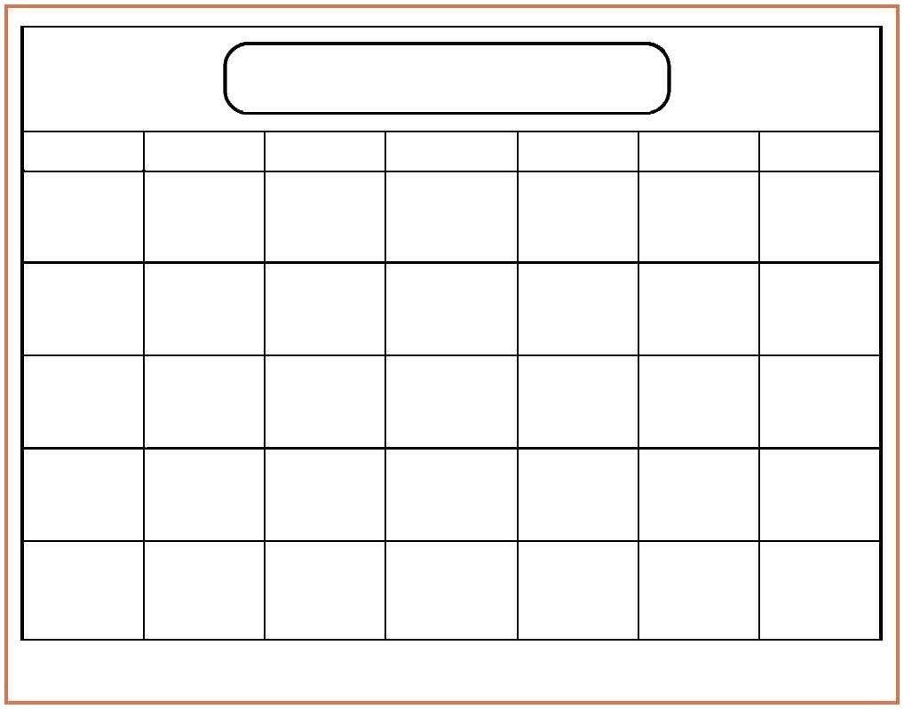 word monthly calendar template