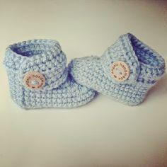 Angels handmade: Baby Booties haakpatroon, #haken, gratis patroon, Nederlands, slofjes