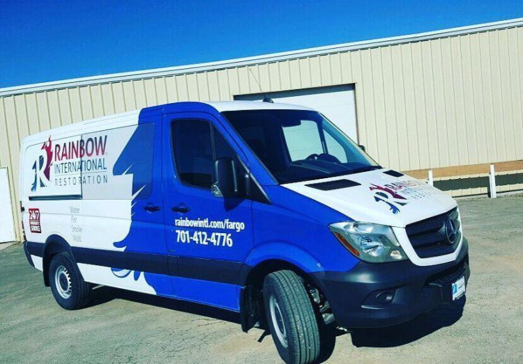 a6f9b10cce Here s a look at a vehicle wrap we did for Rainbow International    Ambassador Cleaning. What do you think    signage  vehicle  wrap  design   graphic  fargo ...