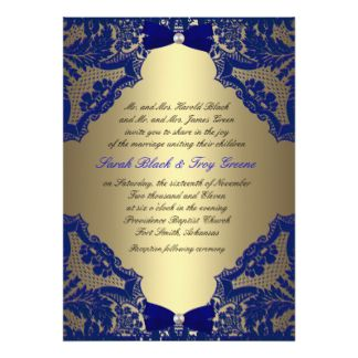 Gold weddings and Invitation design