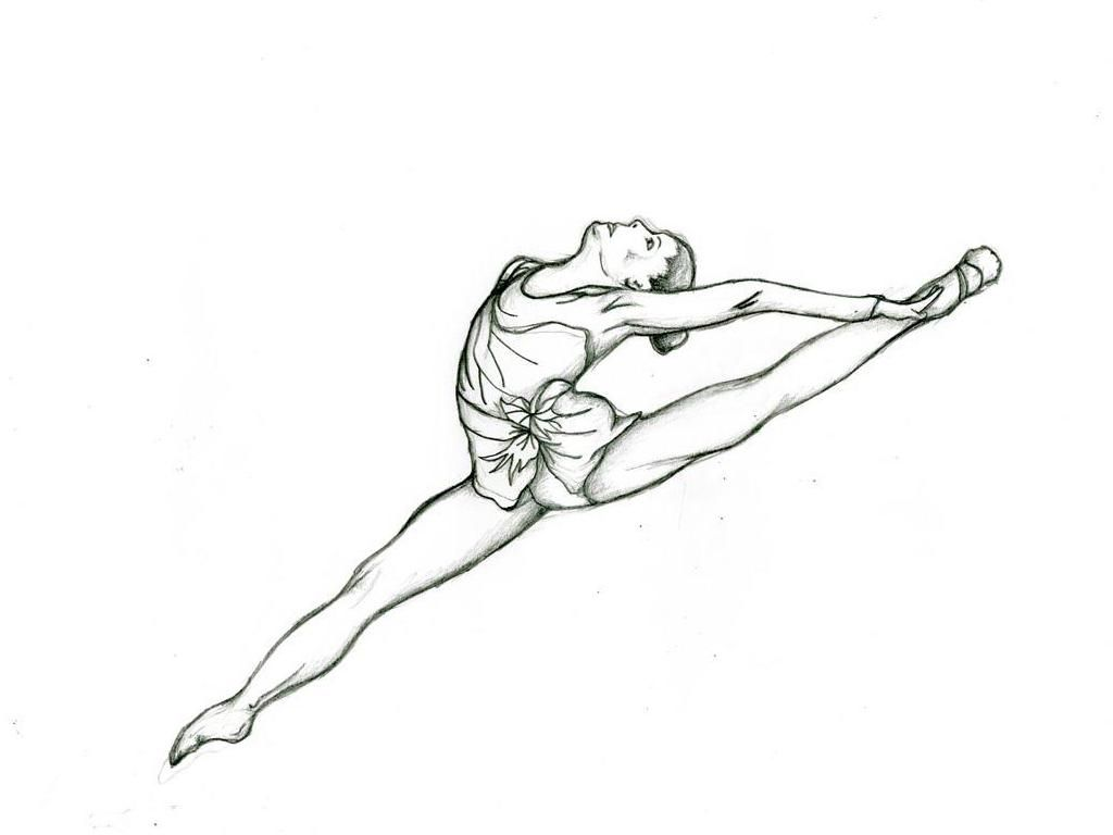 Coloring pictures gymnastics - Gymnastics Coloring Pages 07