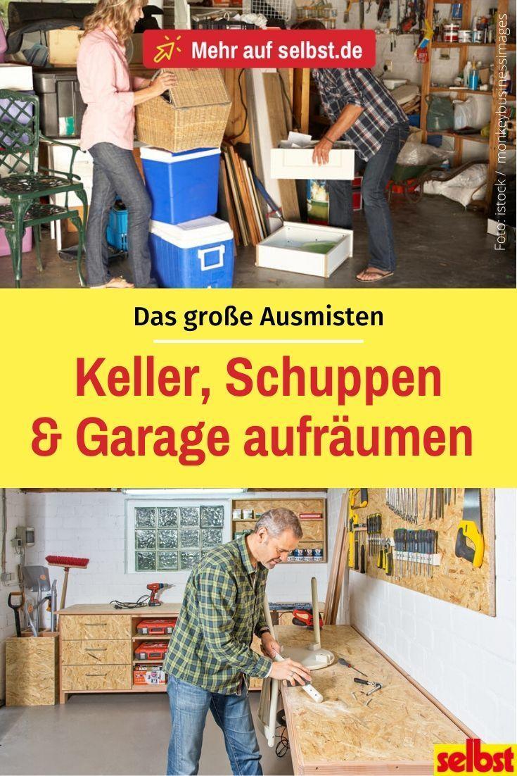 Photo of Keller, Schuppen & Garage aufräumen
